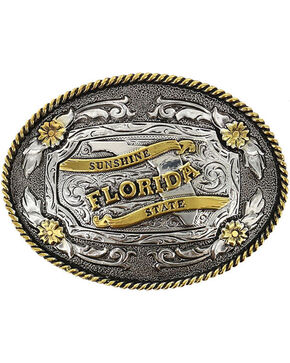 Cody James® Oval Dual-Tone Florida Buckle, Multi, hi-res