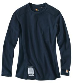 Carhartt Women's Flame Resistant Force Navy Long Sleeve Top, , hi-res