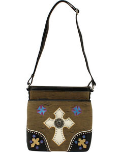 Blazin Roxx Multi Cross Concho Messenger Bag, , hi-res