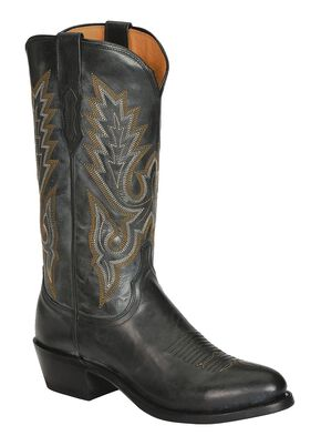Lucchese Handcrafted 1883 Western Madras Goat Cowboy Boots, Black, hi-res