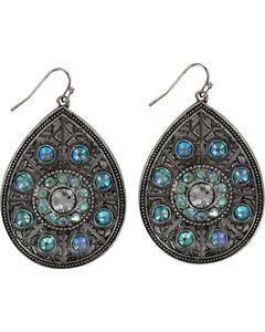 Shyanne Women's Turquoise Crystal Teardrop Earrings, , hi-res