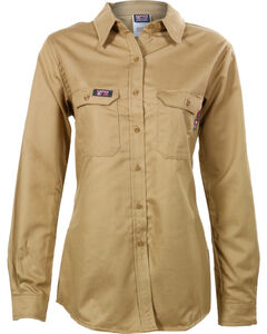 Lapco Women's FR Advanced Comfort Long Sleeve Work Shirt, , hi-res