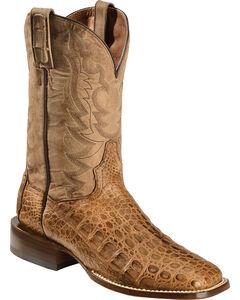 Dan Post Caiman Foot Leather Cowboy Boots - Square Toe, , hi-res