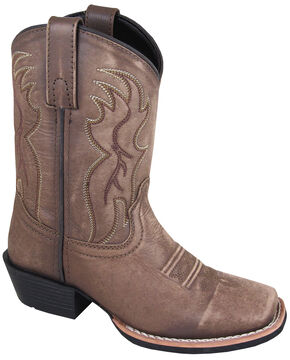 Smoky Mountain Youth Boys' Gallup Leather Western Boots - Square Toe, Brown, hi-res