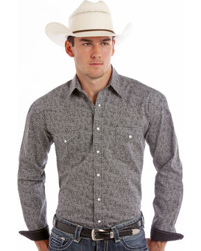 Rough Stock by Panhandle Slim Warren Print Western Shirt, Print, hi-res