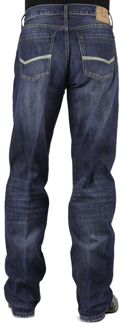 Stetson Modern Fit Bold Stitched Jeans, , hi-res