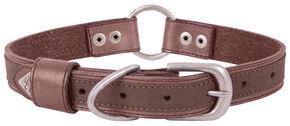 Browning Brown Medium Leather Dog Collar , Brown, hi-res