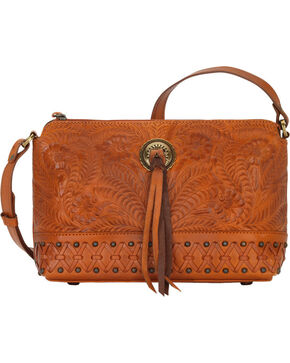 Bandana by American West Women's Dove Canyon Crossbody Bag , Tan, hi-res