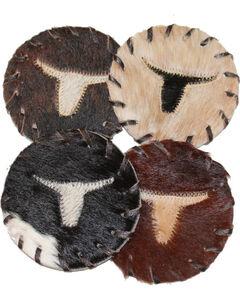 B.S. Trading Hair On Longhorn Coasters, , hi-res