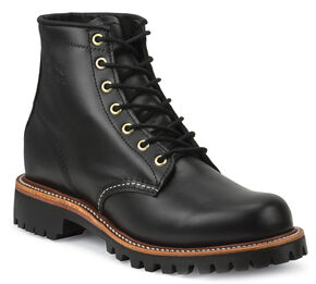 "Chippewa Men's 6"" Lace-Up Whirlwind Boots - Round Toe, Black, hi-res"