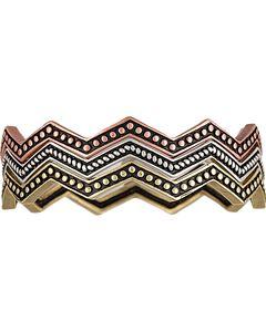 Wrangler Rock 47 Pins & Needles Tri-Color Triple Zig-Zag Bangle Bracelets, , hi-res