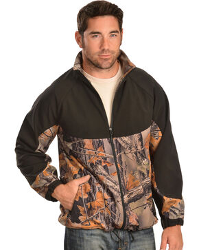 Red Ranch Men's Camo and Black Bonded Jacket, Camouflage, hi-res