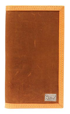 Nocona Two-Tone Leather Trim Rodeo Wallet, , hi-res