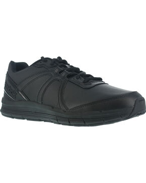 Reebok Men's Guide Athletic Oxford Work Shoes - Soft Toe , Black, hi-res
