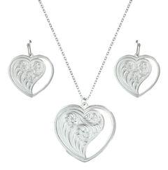 Montana Silversmiths Hearts Swept Away Jewelry Set , , hi-res