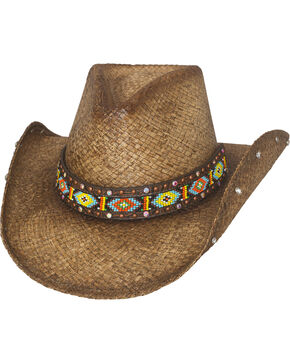 Bullhide Love Myself Straw Cowboy Hat, Brown, hi-res