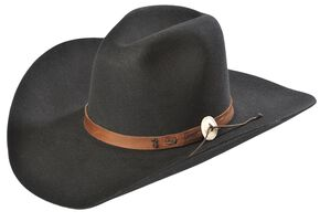 Stetson 4X Tall Tale Buffalo Felt Cowboy Hat, Black, hi-res