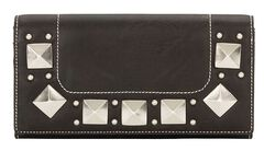 Bandana by American West Houston Black Flap Wallet, , hi-res