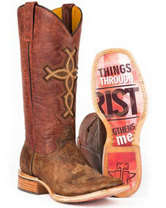 Tin Haul I Believe Cowgirl Boots - Square Toe, , hi-res