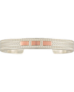 Montana Silversmiths CrossCut Threaded Ribbon Cuff Bracelet, , hi-res