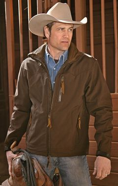 STS Ranchwear Men's Young Gun Brown Jacket - Big & Tall - 2XL-3XL, , hi-res