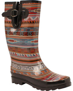 Blazin Roxx Perry Tribal Rain Boots - Round Toe Ro, , hi-res