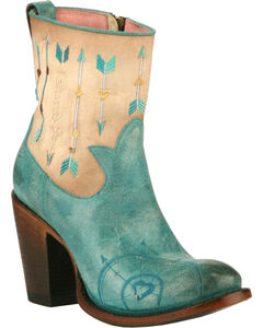 Junk Gypsy by Lane Women's Turquoise Wanderlust Boots - Round Toe , Turquoise, hi-res