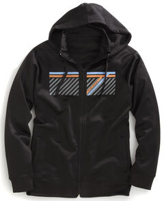 Tin Haul Men's Striped Logo Zip-Up Hoodie, , hi-res