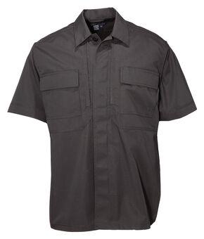 5.11 Tactical Taclite TDU Short Sleeve Shirt - Tall Sizes (2XT - 5XT), Black, hi-res