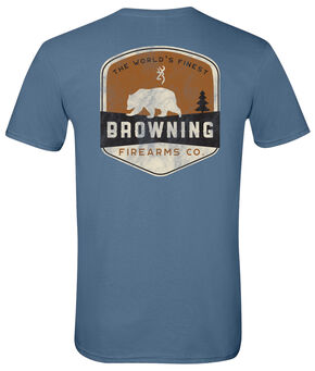 Browning Men's Bear Banner Short Sleeve Tee, Indigo, hi-res