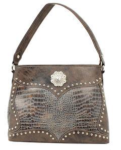 Blazin Roxx Croc Print Concho Concealed Carry Shoulder Bag, , hi-res