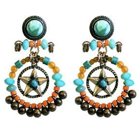 Treska Beaded Hoop and Star Earrings, Multi, hi-res