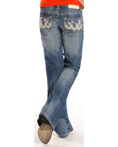 Rock & Roll Cowgirl Girls' Light Embellished Jeans - Boot Cut , , hi-res