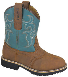 Smoky Mountain Youth Girls' Colby Western Boots - Round Toe, Brown, hi-res