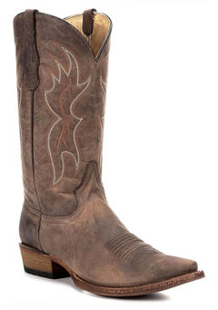 Circle G Men's Tan Basic Western Boots - Snip Toe, , hi-res