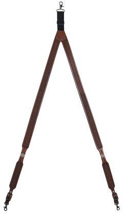 3D Basketweave Star Concho Suspenders - XL, , hi-res