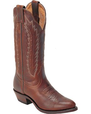 Boulet Cowgirl Boots - Medium Toe, Brown, hi-res