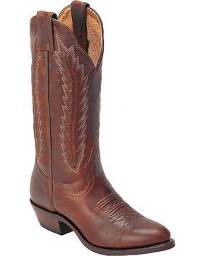 Boulet Cowgirl Boots - Medium Toe, Brown, hi-res