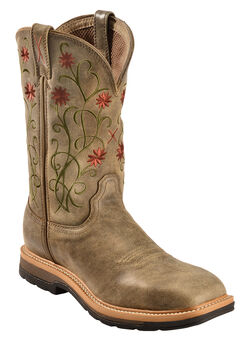 Twisted X Floral Stitched Roughstock Cowgirl Boots - Steel Toe, , hi-res
