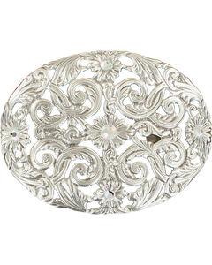 Blazin Roxx Women's Pierced Silver Plated Crystals Buckle, , hi-res