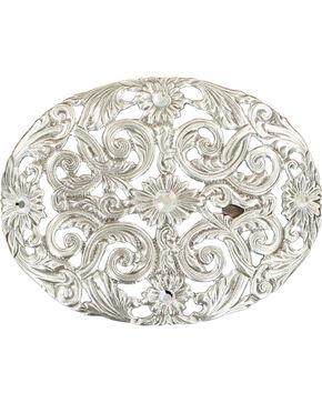 Blazin Roxx Women's Pierced Silver Plated Crystals Buckle, Silver, hi-res