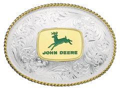 Montana Silversmiths 1340 Series John Deere Western Belt Buckle, , hi-res