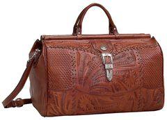 American West Antique Tan Leather Duffel Bag, , hi-res