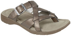 Eastland Women's Silver Pearl Thong Sandals, , hi-res