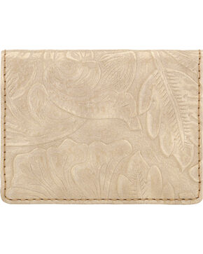 Bandana by American West Cream Embossed Amour Folded Snap Wallet  , Cream, hi-res