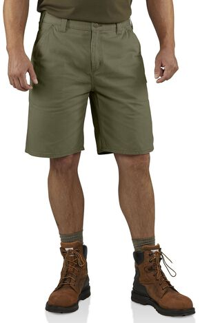 Carhartt Washed Twill Dungaree Shorts, Green, hi-res