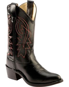 Old West Boys' Black Cowboy Boots, , hi-res