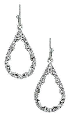 Montana Silversmiths Women's Laced Teardrop Earrings, , hi-res