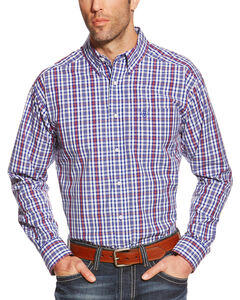 Ariat Pro Series Jedd Plaid Classic Fit Western Shirt, Blue, hi-res
