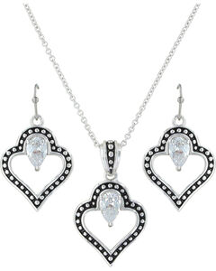 Montana Silversmiths Women's Spade Of Hearts Jewelry Set, , hi-res